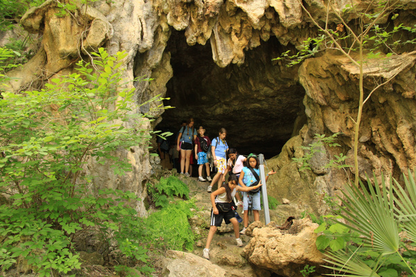 A cave group tour at Westcave Outdoor Discovery Center, Austin